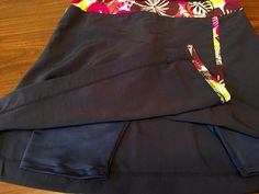 Asymmetric Faux-Wrap Swim Skort Modest Swim Running by SheRuns2Win
