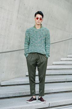 kenzomodels:  Street style: Kim Yong Ha shot by Alex Finch at Seoul Fashion Week Spring 2015