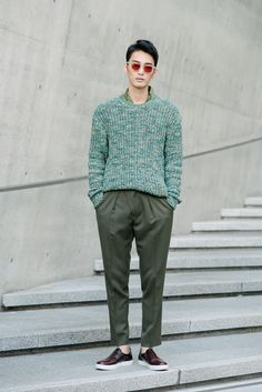 kenzomodels:  Street style: Kim Yong Ha shot by Alex Finch at Seoul Fashion Week Spring 2015