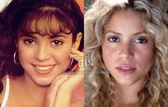 Shakira was so beautiful in high school and she still is beautiful but she looks like my mom with the dark hair even though my mom's an indian and mexican and hawaiian and she's beautiful too