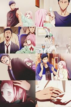 Uploaded by Anime ♛ Master. Find images and videos about kuroko no basket, aomine daiki and spirited away on We Heart It - the app to get lost in what you love. Anime Couples Manga, Cute Anime Couples, Anime Manga, Anime Guys, Kuroko No Basket Characters, Anime Characters, Aomine Kuroko, Akashi Seijuro, Tamako Love Story
