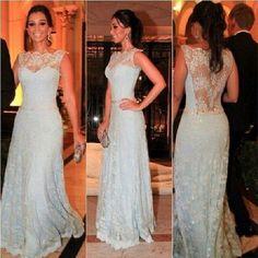 Blue A-line lace up sequins sparkle belt long floor-length Prom Dresses special high quality,Cheap prom dress BD1705716