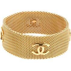 Chanel Vintage Fine Chain Link Bangle found on Polyvore