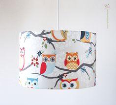 Deckenlampen - Lampe Kinderzimmer Babyzimmer mit Eulen - ein Designerstück von bartienes bei DaWanda