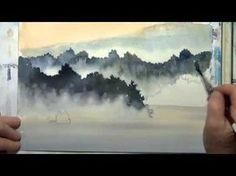 Рисуем акварелью камни и валуны с Terry Harrison - YouTube