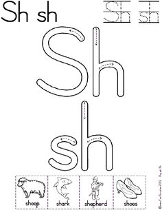 Sh Digraph Worksheet and Mini-Book available in two font formats for school