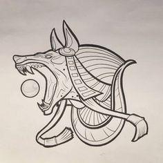 nice Tattoo Trends – Anubis Tattoo Design by chrisinktattoo… Tattoo Sketches, Tattoo Drawings, Body Art Tattoos, Sleeve Tattoos, Anubis Tattoo, Dibujos Tattoo, Desenho Tattoo, Kurt Tattoo, Anubis Drawing