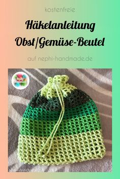# crochet pattern for the fruit and vegetable bag - it will help you .- zum Obst und Gemüse Beutel – er hilft dir dabei weniger Plasti… # Häkelanleitung to the fruit and vegetable pouch – it helps you use less plastic. Bag Crochet, Crochet Fruit, Free Crochet, Crochet Hats, Crochet Flowers, Knitting Projects, Knitting Patterns, Crochet Patterns, Knitting Bags