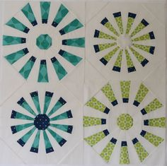 Hyacinth Quilt Designs: Making a Dresden Fan block