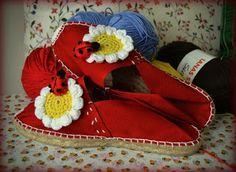 GEMITA CROCHET : Adornando zapatillas de esparto o cualquier tipo d...
