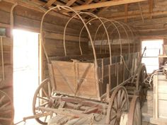 Covered Wagon. The only known surviving wagon from the Cherokee Indians historic Trail of Tears.  Foxfire Museum, Rabun County, GA