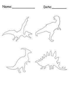 Dinosaur Stencil