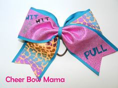 Hit Hit Hit PULL... Cheer Bow by CheerBowMama on Etsy