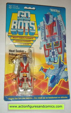 vintage Tonka / Ban-Dai toys action figures GO BOTS / MACHINE ROBO 1984 HEAT SEEKER fighter jet new - still factory sealed in the original package condition: overall an excellent display piece as show