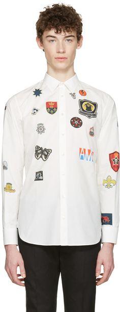 Alexander McQueen - White Badges Shirt