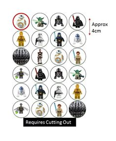 Star Wars Clone Multi Rice Paper Edible Cake Cupcake Toppers Sheet 24 Un-Cut