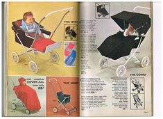 Vintage prams and pushchairs from the Mothercare 1967 catalogue Vintage Crib, Vintage Love, Baby Memories, Childhood Memories, Pram Stroller, Baby Strollers, Silver Cross Prams, Prams And Pushchairs, Dolls Prams