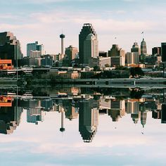 San Antonio skyline reflection