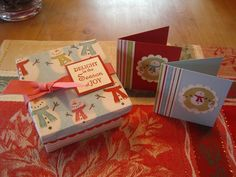 Christmas 3x3 Note Card Box