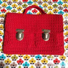 Duo Elmo, cartable et sac doublé pour jolie fée qui sait tricoter!!!