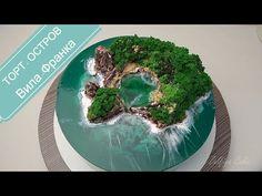 Aqua Cake, Wave Cake, Island Cake, Ocean Cakes, Jello Cake, Baby Birthday Cakes, Cake Decorating Videos, Mermaid Cakes, New Cake