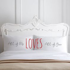 All Of Me Loves All Of You Couple Pillow cases Home Decor 2nd
