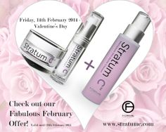 Check out our Fabulous February Offer at www.stratumc.com - FREE gentle Cleanser with every Special Combined Value Purchase. Menopause Skin Care when you need it most