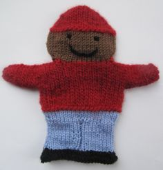 Hand puppet suitable for shoeboxes.