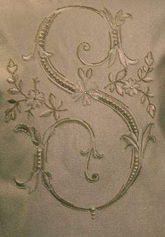 Villa Savoia, Inc.: Embroidered and Hand Beaded Custom Monogram