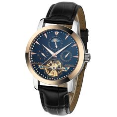 Watches Men Brand Mechanical Watch Men Luxury Moon Phase Clock Business Leather dive 100m