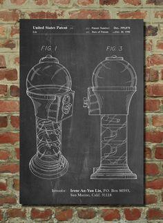 Gumball Machine Poster, Gumball Machine Patent, Gumball Machine Print, Gumball Machine Art, Gumball Machine Decor, Gumball Machine Wall Art