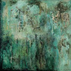 Sans titre (Vert émeraude), vers 1950 - Zao Wou-ki