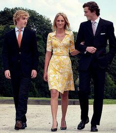 Prince Joachim, Princess Maria Laura, and Prince Amedeo of Belgium