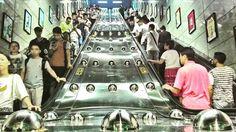 Bubble metro 😀 Xicun metro station, Guangzhou