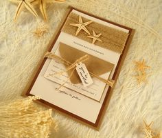 Starfish Wedding Invitation https://www.etsy.com/listing/230129281/starfish-wedding-invitation-beach?ref=shop_home_active_13