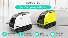 Here is a smart robot that can serve as a companion for your pet. It comes with a camera, treat dispenser, laser toy, and walkie-talkie functionality. China Technology, Iron Man Cosplay, Cool Robots, Smart Robot, Pet Feeder, Robot Design, Self Driving, Automotive Design, Bicycle Helmet