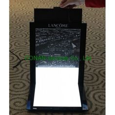 LANCOME cosmetic display, retail display, display with LEDs,   display design and manufacturer in China