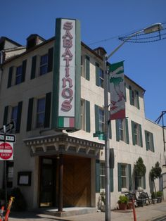 Sabatino's Restaurant in Maryland -DAD BORN HERE BEFORE A RESTAURANT!