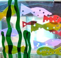 Under the sea window collage