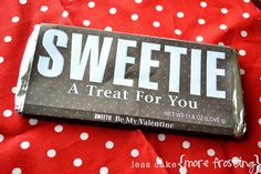 Great Big Chocolate Bar Printable - for the extra large size Hershey's bar - super cute for Valentine's Day