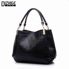 $52.36 (Buy here: https://alitems.com/g/1e8d114494ebda23ff8b16525dc3e8/?i=5&ulp=https%3A%2F%2Fwww.aliexpress.com%2Fitem%2F2015-Alligator-Pu-Leather-Women-Bolsas-De-Couro-Fashion-Sequined-Shoulder-Bag-Zipper-Ladies-Handbags-Bolsas%2F32287941822.html ) 2015 Alligator Leather Women Handbag Bolsas De Couro Fashion Famous Brands Shoulder Bag Black Bag Ladies Bolsas Femininas Sac for just $52.36
