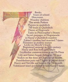 "Speaking of numbers, seven is a fairly important one in the Harry Potter series. 21 Times ""Harry Potter"" Was The Cleverest Book Series Ever Harry Potter World, Harry Potter Humor, Harry Potter Fiesta, Saga Harry Potter, Harry Potter Facts, Harry Potter Books, Harry Potter Love, Hogwarts, Slytherin Pride"