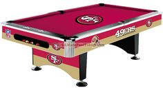 Seattle Seahawks NFL Billiards/Pool Table with Felt Pool Table Games, 8 Pool Table, Billiard Pool Table, Billiards Pool, Nfl 49ers, 49ers Fans, 49ers Pictures, Forty Niners, Sf Niners