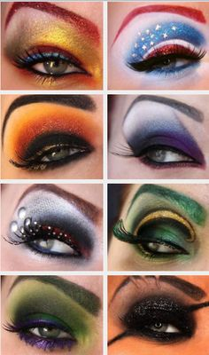 Avengers themed make up! dope!