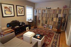 This listening room looks comfy.  #vinyloftheday #vinyligclub #vinylporn #instavinyl #vinyl #vinylcommunity #vinylcollection #vinylcollectionpost #vinylcollector #recordcollector #recordcollection #vinyladdict #vinyljunkie #records #lp #music #roomoftheday #recordroom