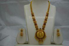 Exquisite Light Weight Antique Lakshmiji Floral Long Set  Now Available At Totaramsons.com