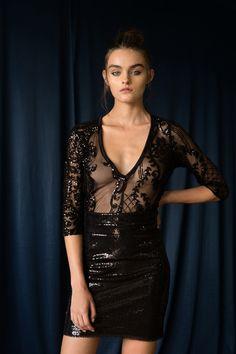 Raindrop bodysuit V Neck Bodysuit, Rain Drops, Sequins, Formal Dresses, Cotton, Collection, Design, Style, Fashion