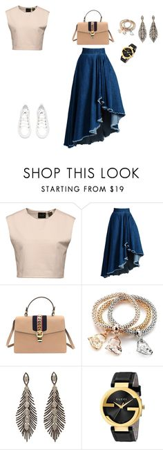 """Untitled #4"" by kerg98 ❤ liked on Polyvore featuring Puma, WithChic and Gucci"