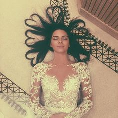 Kendall showed off an artistic shot with her hair in heart-shaped strands. Photo: Instagram
