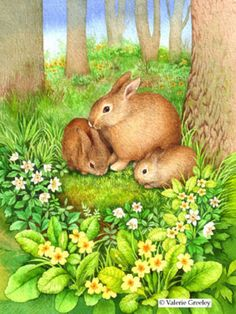 Valerie Greeley - CG124 Bunny and babies,Easter.jpg